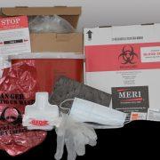 MERI's new Biohazard Blood Spill Clean Up & Disposal Kit