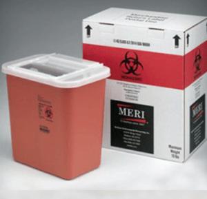 2 gallon sharps disposal mailback container