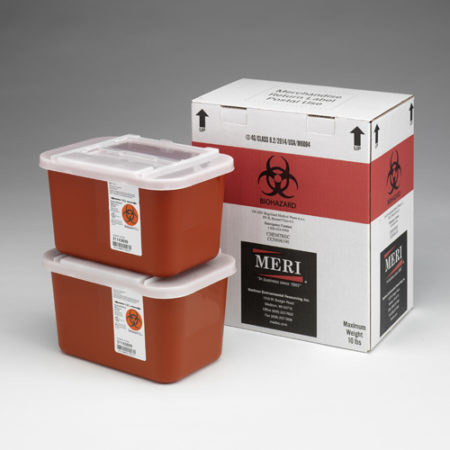 1 Gallon Sharps Disposal Mailback Containers (Case Qty 8)
