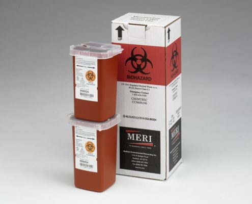 24 One-Quart Sharps Disposal Mailback Containers