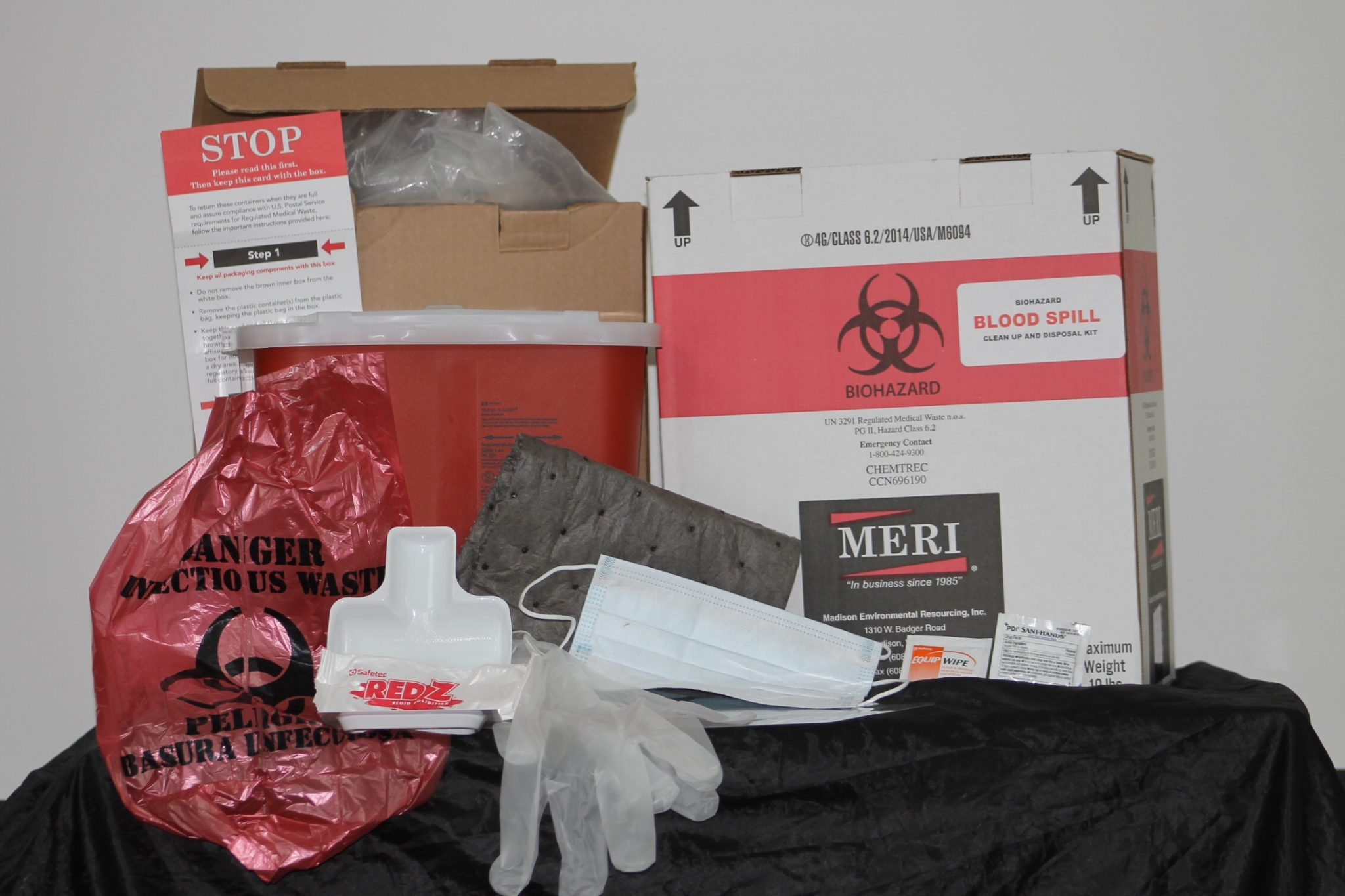 Biohazard Blood Spill Clean Up & Disposal Kit