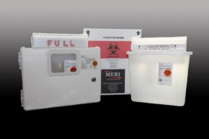 MERI's 5-Quart Sharps Disposal System