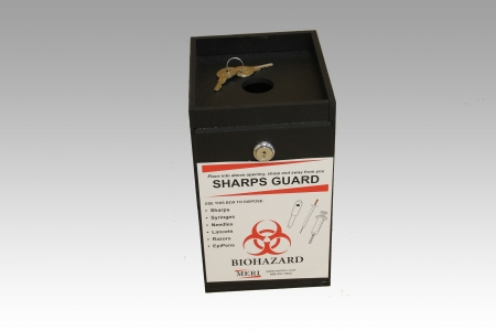 1-quart rugged sharps disposal container