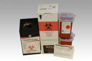 1 quart rugged black sharps box and mailback kit