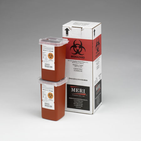 1 Quart Medical Waste Disposal By Incineration Mailback Containers (2)