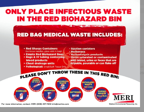 FREE INFECTIOUS WASTE POSTER: WHAT GOES IN RED BIOHAZARD ...