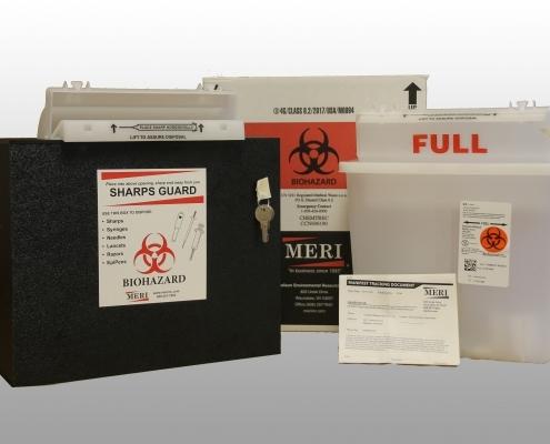 5 quart rugged black sharps disposal system