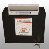5 quart rugged sharps box by MERI Inc