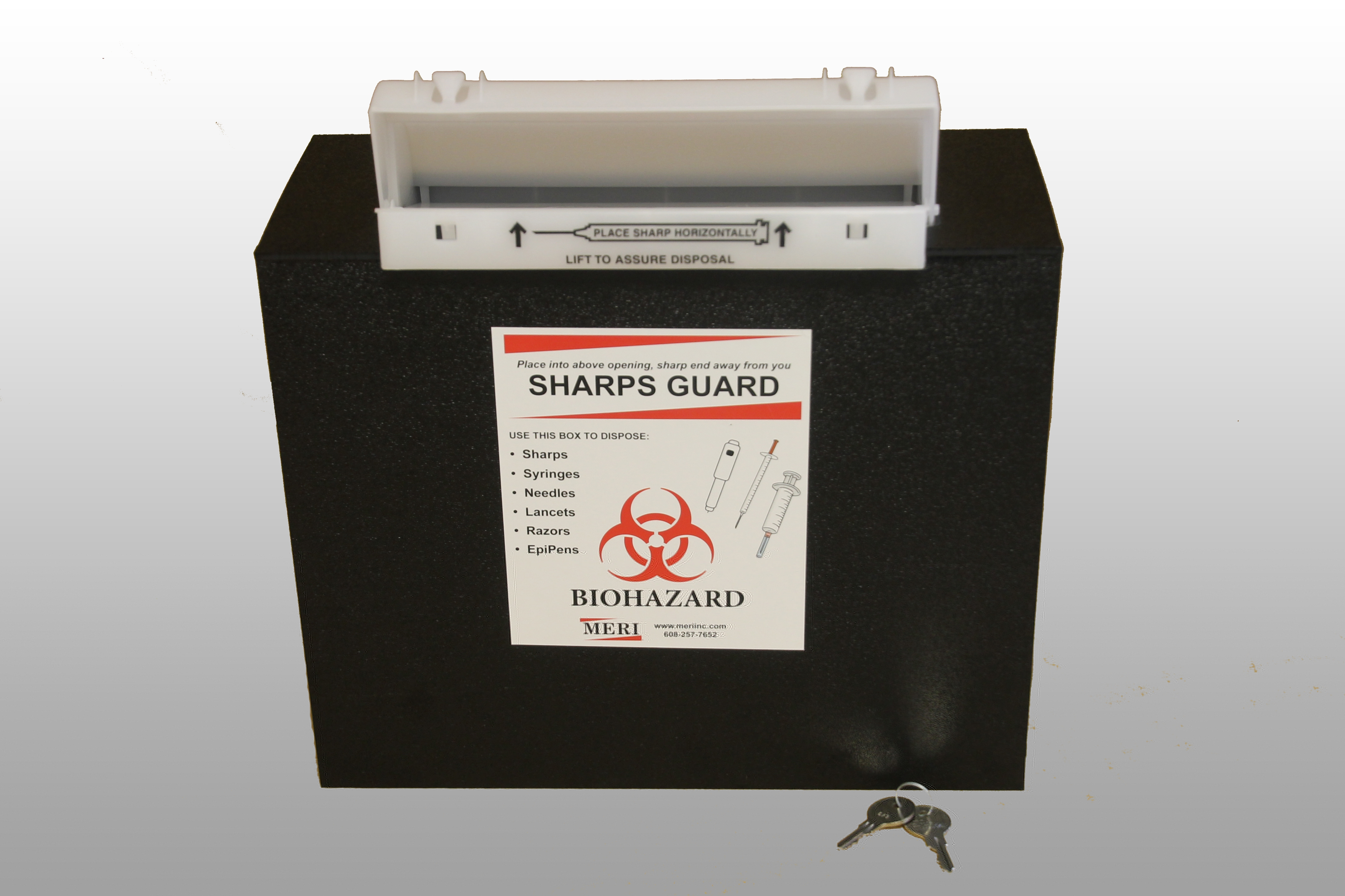 5 quart rugged sharps box by MERI Inc