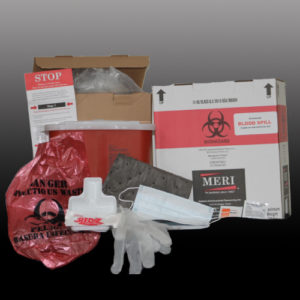 blood spill clean up and disposal kit