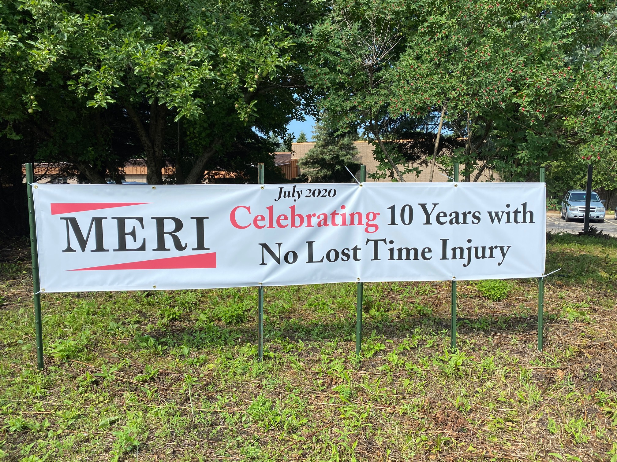 10 years no lost time accidents at MERI
