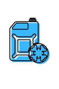 blue icon bottle of antifreeze